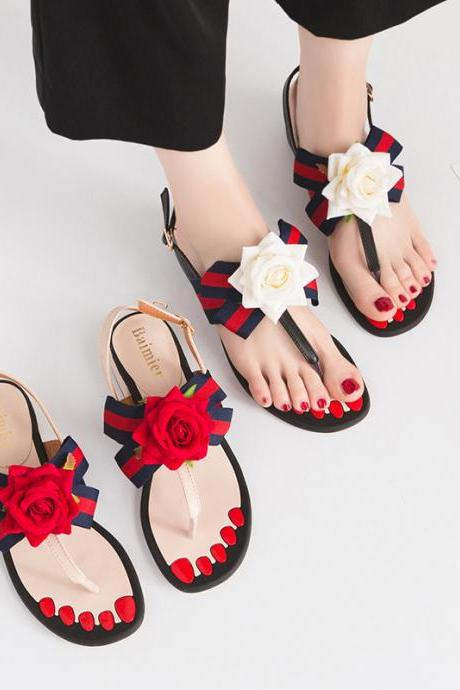 new arrivals rose flower all-match comfortable women shoes(1ukQ0O)