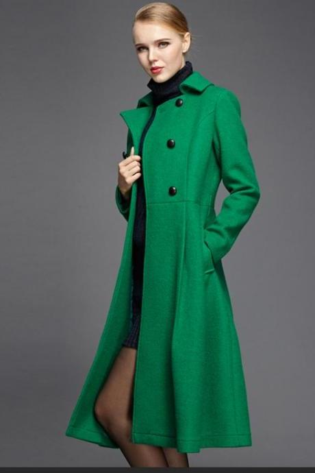 2015 fall and winter clothes new high-end long section woolen coat